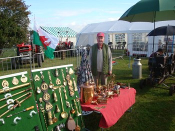 Mr Barwick and his brass collection